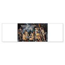 Cezanne Landscape Nude Bumper Bumper Sticker