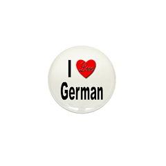 I Love German Mini Button (10 pack)
