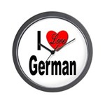I Love German Wall Clock