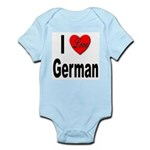 I Love German Infant Creeper