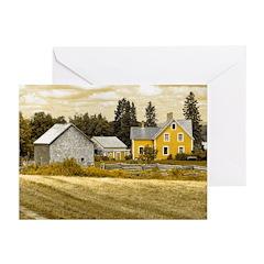 Joslin Farm 1860 sepia Greeting Cards (Pk of 10)