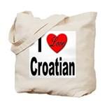 I Love Croatian Tote Bag