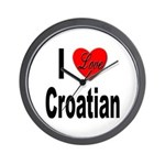 I Love Croatian Wall Clock
