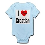 I Love Croatian Infant Creeper