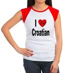 I Love Croatian Women's Cap Sleeve T-Shirt