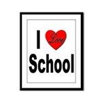 I Love School Framed Panel Print
