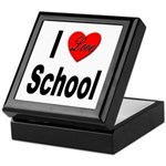 I Love School Keepsake Box