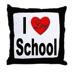 I Love School Throw Pillow