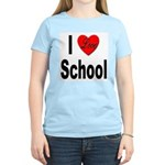 I Love School (Front) Women's Pink T-Shirt