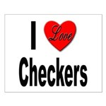 I Love Checkers Small Poster