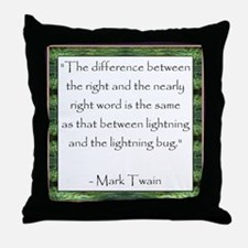 Twain Quote Throw Pillow
