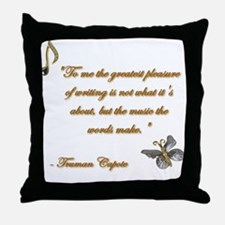 Music of Words Throw Pillow