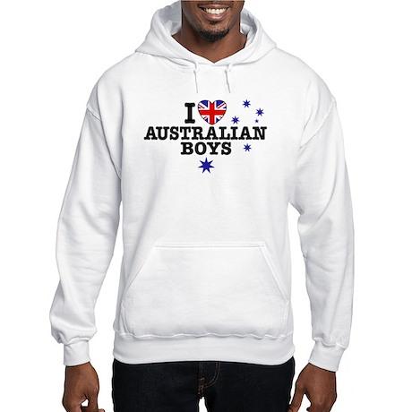 I Love Australian Boys Hooded Sweatshirt