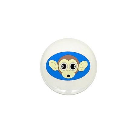MONKEY FACE (BLUE BACKGROUND) Mini Button (10 pac