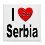 I Love Serbia Tile Coaster