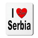 I Love Serbia Mousepad