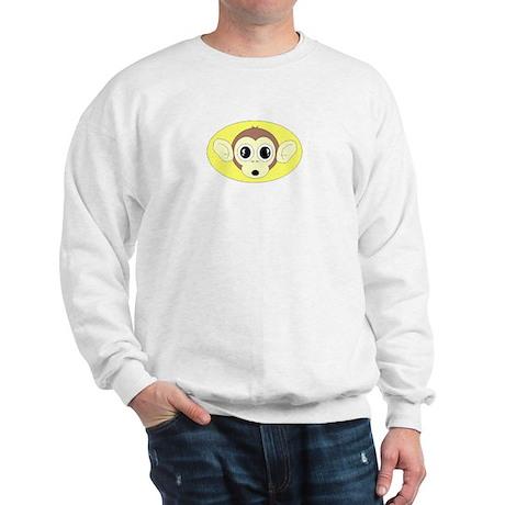 MONKEY FACE (YELLOW BACKGROUND) Sweatshirt