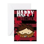 Scary Killer Halloween Greeting Card
