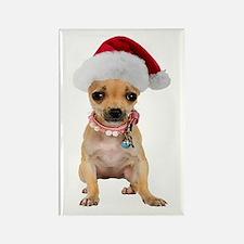 Santa Chihuahua Rectangle Magnet
