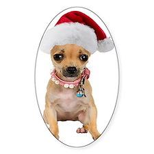 Santa Chihuahua Decal