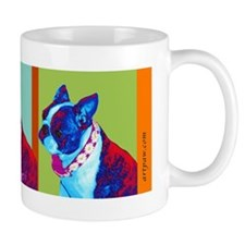 Boston Terrier Art Small Mugs