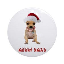 Christmas Chihuahua Ornament (Round)