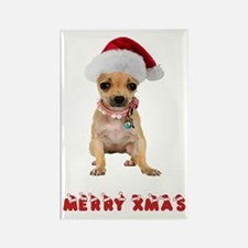 Christmas Chihuahua Rectangle Magnet
