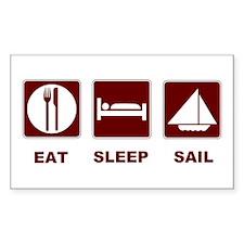 Eat Sleep Sail Decal