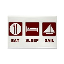 Eat Sleep Sail Rectangle Magnet (100 pack)