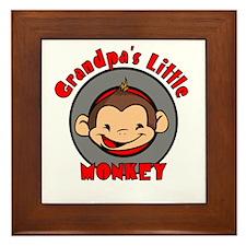 Grandpa's Little Monkey Framed Tile