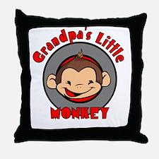 Grandpa's Little Monkey Throw Pillow