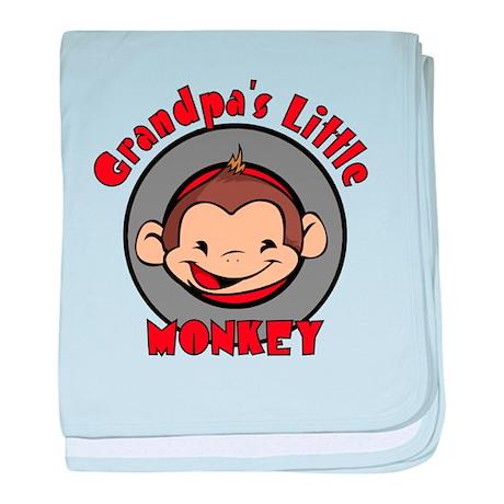 Grandpa's Little Monkey Infant Blanket