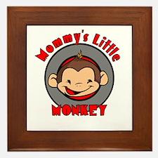 Mommy's little monkey (boy) Framed Tile