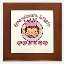 Grandpa's Little monkey (girl Framed Tile