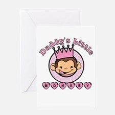 Daddy's Little Monkey (girl) Greeting Card