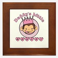 Daddy's Little Monkey (girl) Framed Tile
