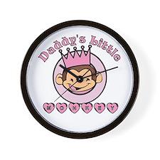 Daddy's Little Monkey (girl) Wall Clock