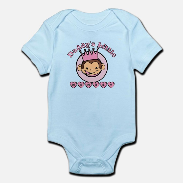 Daddy's Little Monkey (girl) Infant Bodysuit