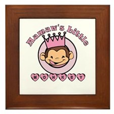 Mamaw's Little Monkey (girl) Framed Tile