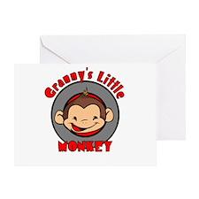 Granny's Little Monkey (boy) Greeting Card