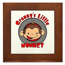 Granny's Little Monkey (boy) Framed Tile