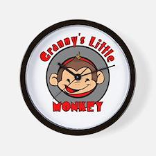 Granny's Little Monkey (boy) Wall Clock
