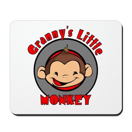 Granny's Little Monkey (boy) Mousepad