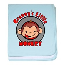 Granny's Little Monkey (boy) Infant Blanket