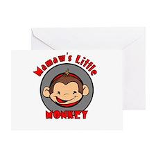Mamaw's Little Monkey (boy) Greeting Card