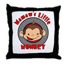 Mamaw's Little Monkey (boy) Throw Pillow