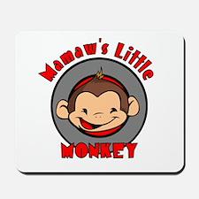Mamaw's Little Monkey (boy) Mousepad
