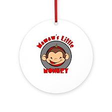 Mamaw's Little Monkey (boy) Ornament (Round)
