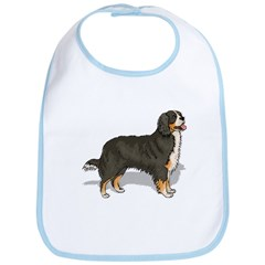 Bernese Mountain Dog Portrait Bib
