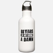 66 years of not giving a damn Water Bottle